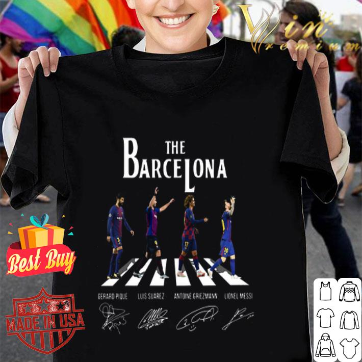 The Barcelona Abbey Road signatures The Beatles shirt