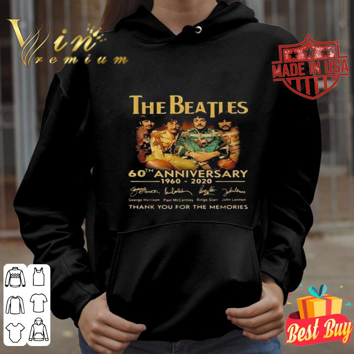 The Beatles 60th anniversary 1960 2020 signatures shirt