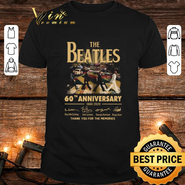 The Beatles 60th anniversary 1960 2020 thank you for the memories signatures shirt 1