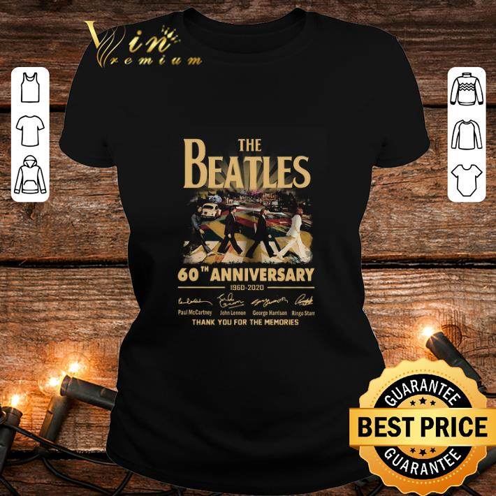 The Beatles 60th anniversary 1960 2020 thank you for the memories signatures shirt 2