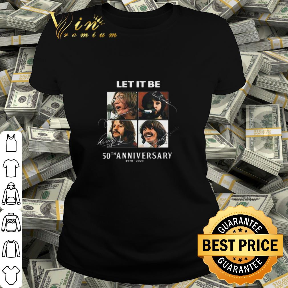 The Beatles Let It Be Signatures 50th Anniversary 1970-2020 shirt