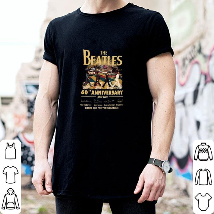 The Beatles Rock band 60th Anniversary 1960-2020 Signatures shirt