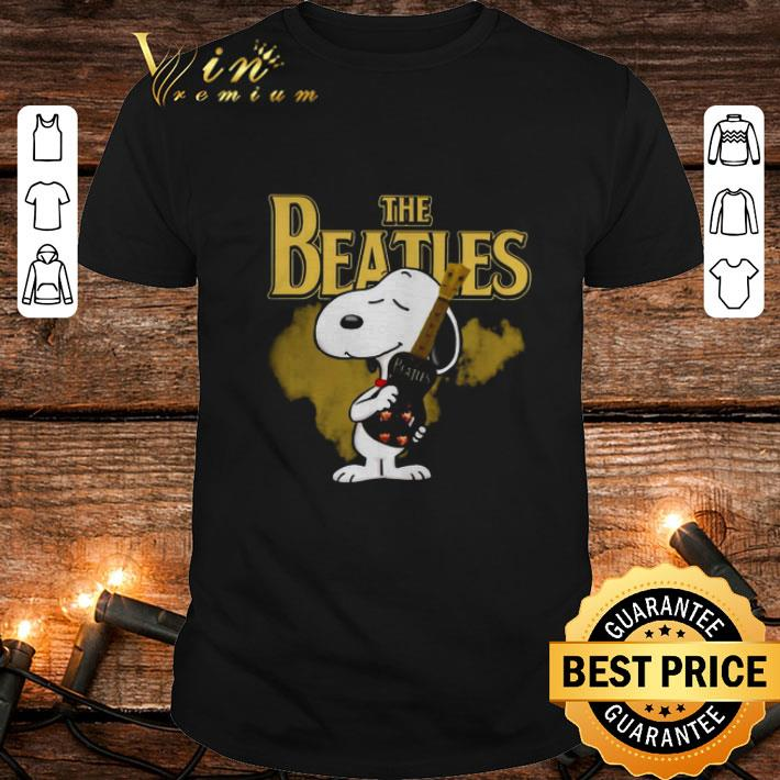 The Beatles mashup Snoopy hug guitar shirt