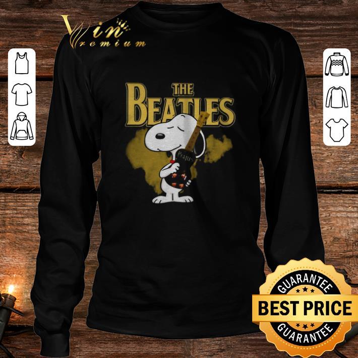 The Beatles mashup Snoopy hug guitar shirt 3