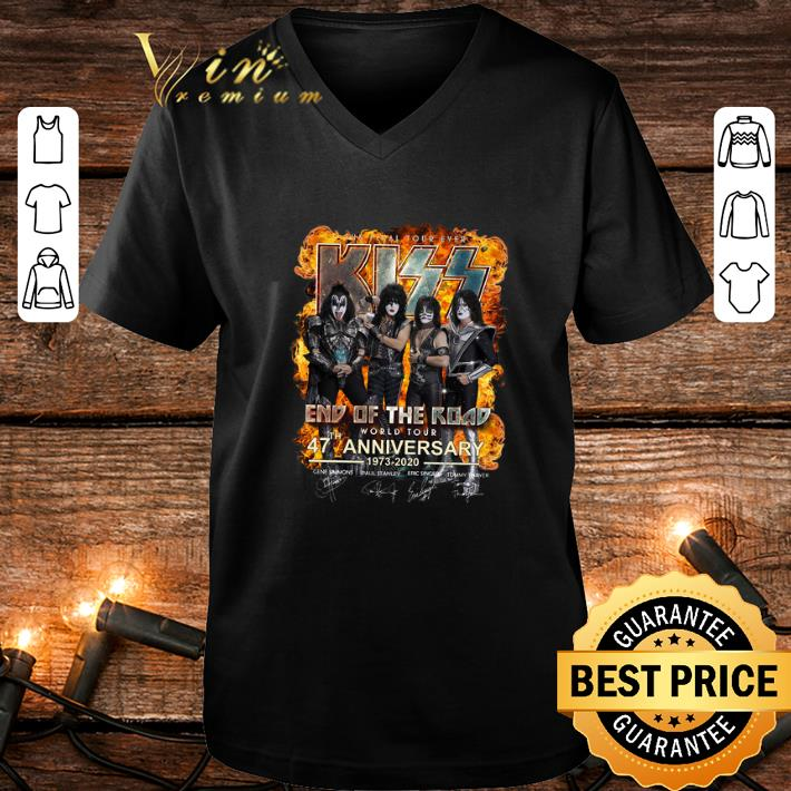 The Final Tour Ever Kiss End Of The Road 47 th Anniversary shirt
