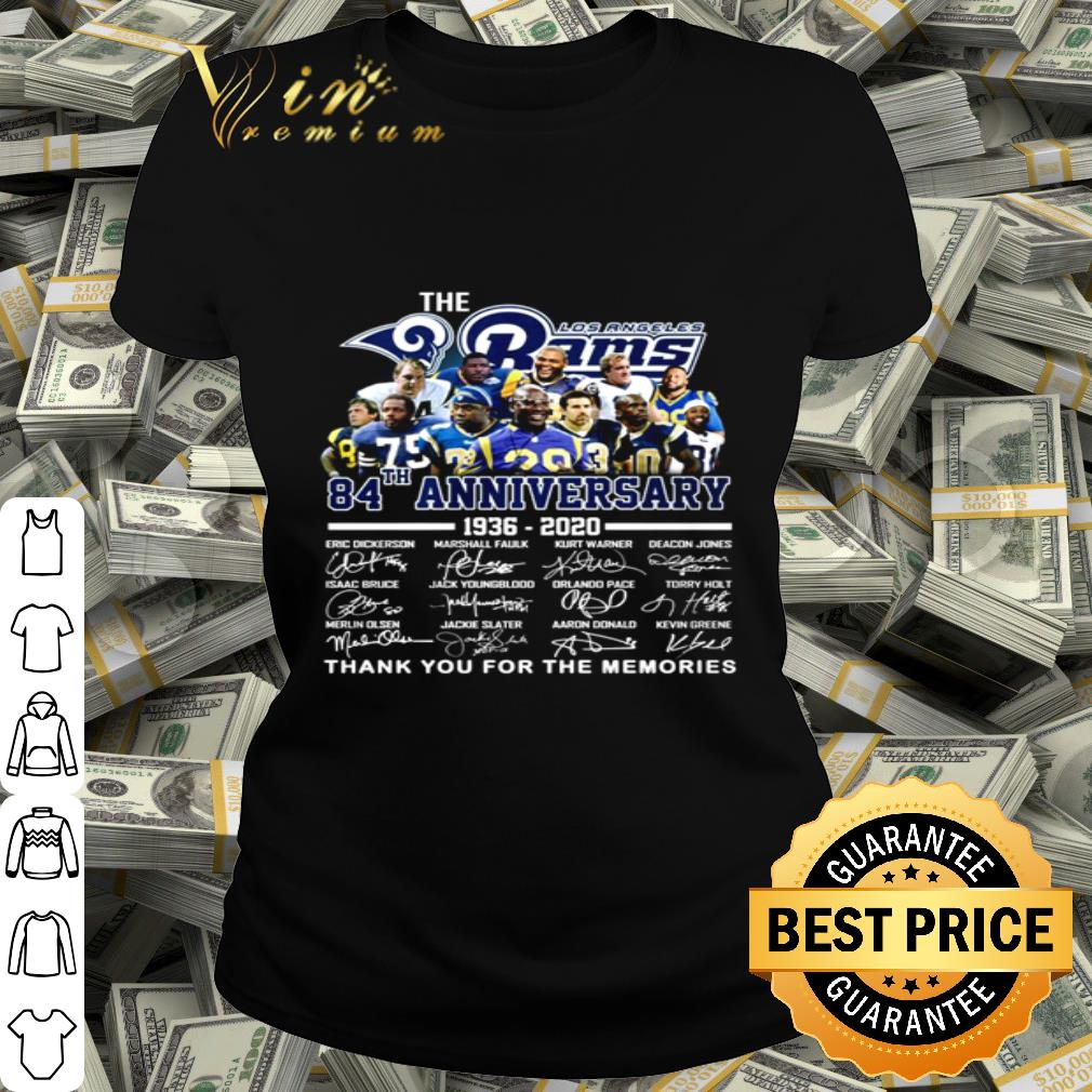 The Los Angeles Rams 84th anniversary 1936-2020 all signature shirt