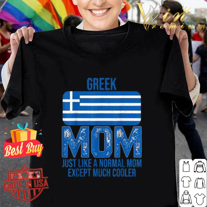 Vintage Greek Mom Greece Flag Design For Mother's Day shirt