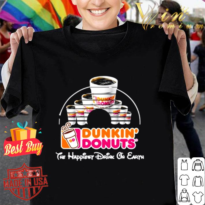 Walt Disney Dunkin' Donuts the happiest drink on earth shirt