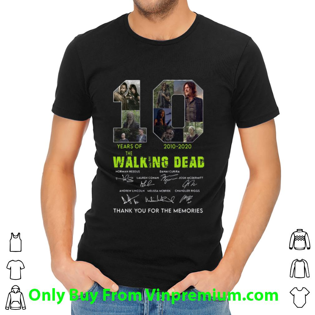 10 Years Of The Walking Dead Thank You For The Memories Signatures Shirt 2