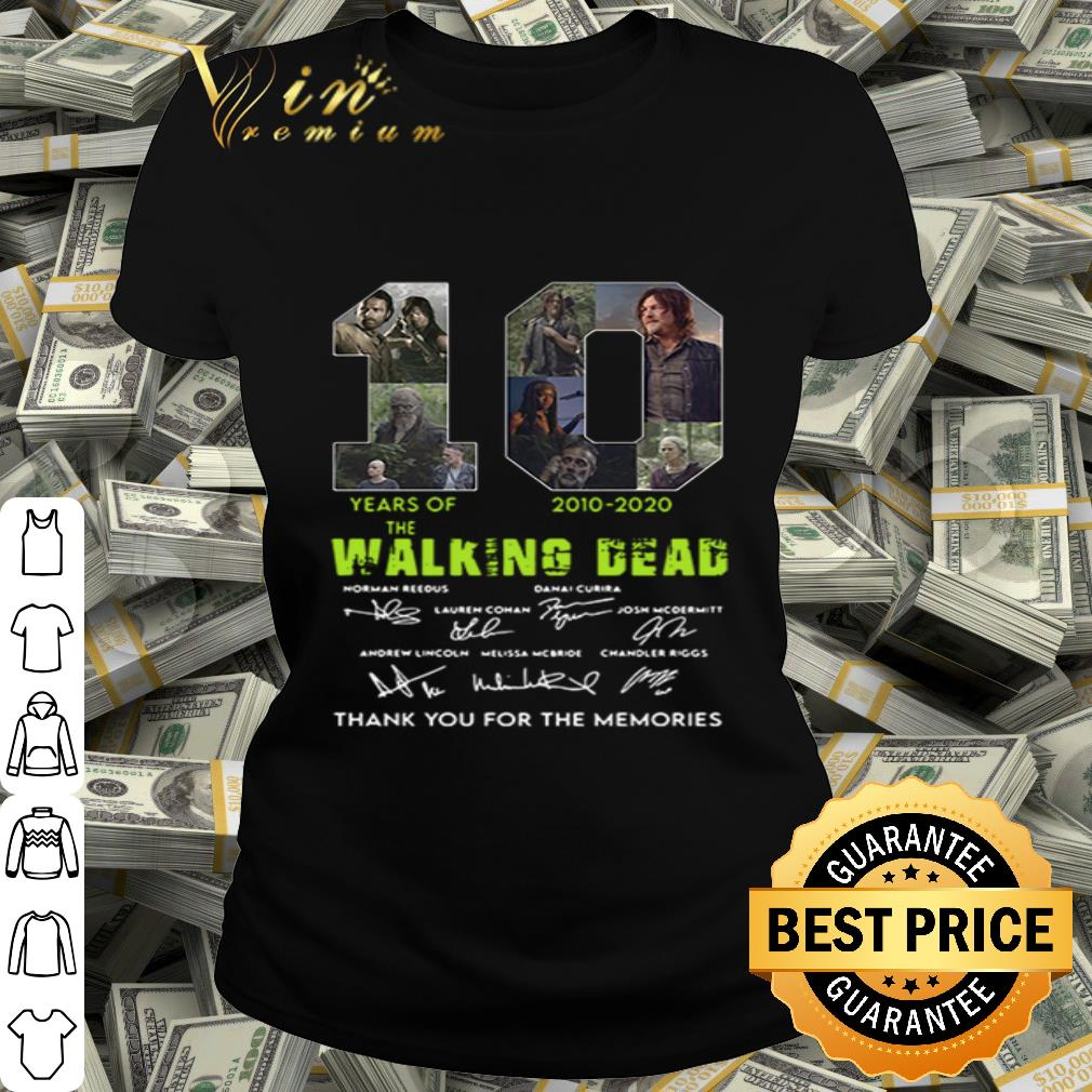 10 years of The Walking Dead 2010-2020 all signature shirt