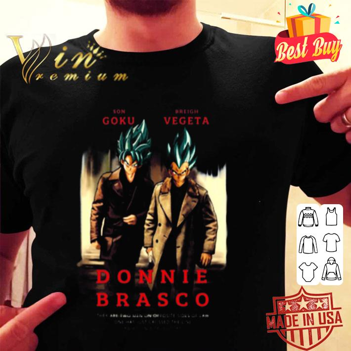 Donnie Brasco Son Goku and Breigh Vegeta Dragon Ball Super shirt