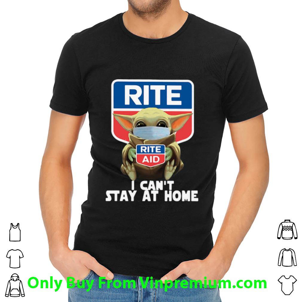 Star Wars Baby Yoda Hug Rite Aid I Can't Stay At Home Covid-19 Shirt