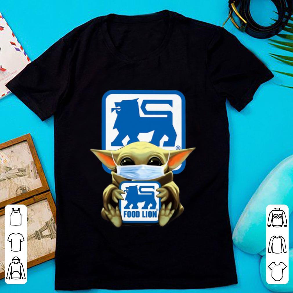 Star Wars Baby Yoda Mask Hug Food Lion Covid-19 Shirt