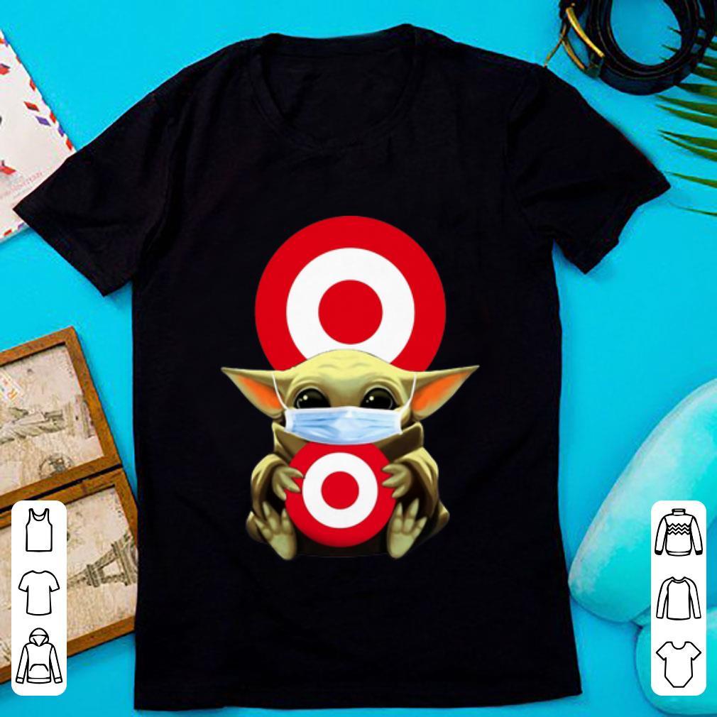 Star Wars Baby Yoda Mask Hug Target Circle Covid-19 Shirt