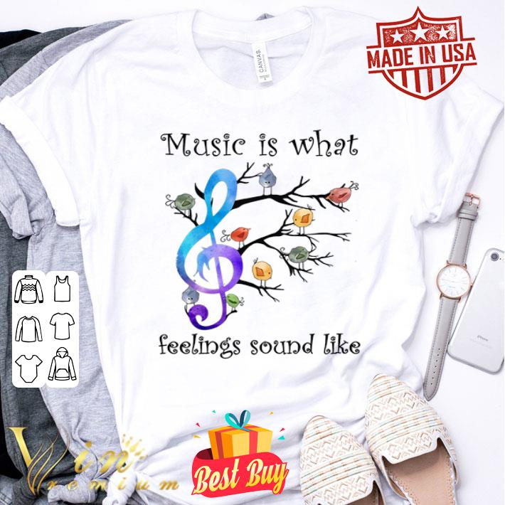 Birds and note music is what feelings sound like shirt